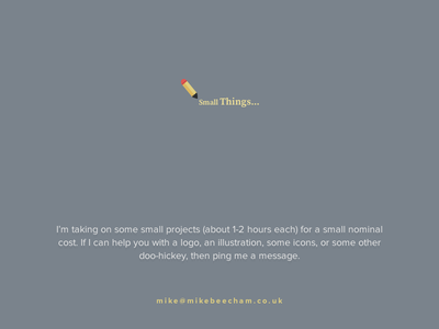 Small Things @2x email web logo illustration icon app freelance project