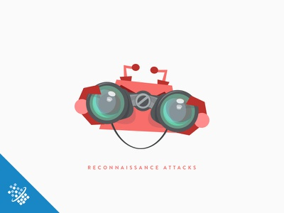 Reconnaissance Attacks @2x bot distil networks illustration design attacks scraper web