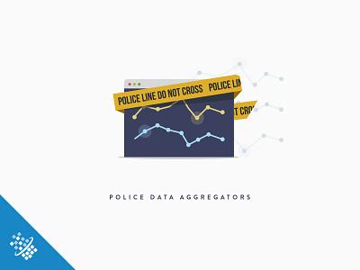 Police Data Aggregators @2x graph police bot distil networks concept illustration design data web