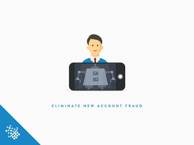 New Account Fraud @2x bot distil networks illustration design fraud scraper web