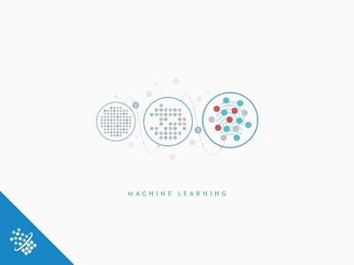 Machine Learning @2x bot distil networks illustration design learning machine web