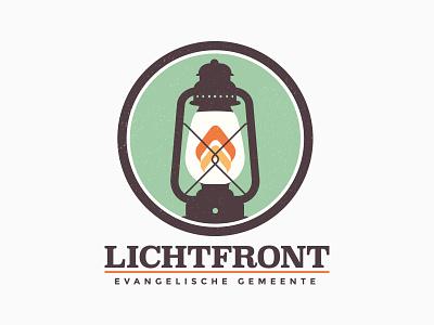 Lichtfront Client Logo @2x distress illustration flame light lamp church design logo
