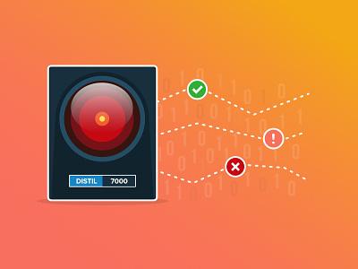 Distil 7000 - Machine Learning graphic colors concept design security icon gradient graphic illustration web