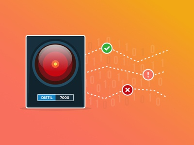 Distil 7000 - Machine Learning graphic colors concept design security icon gradient graphic illustration web