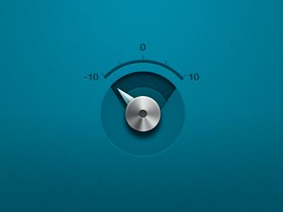 Volume Dial blue turquoise volume dial metal indicator now playing ui interface mikebeecham