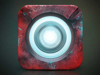 Iron Man icon ios android marvel ironman iron man cartoon comic avengers arc reactor metal red glow