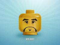 Lego Head - @Kolage