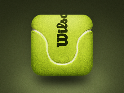 Tennis Ball icon ios ui vector texture felt hair fiber fuzz tennis ball green
