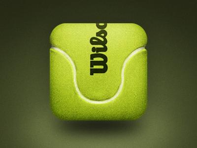 Tennis Ball icon ios ui vector texture felt hair fiber fuzz tennis ball green