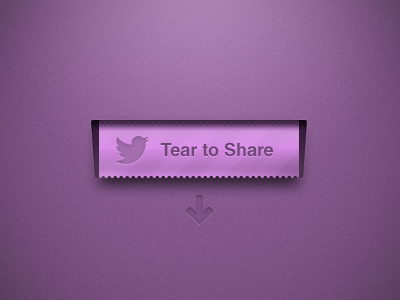 Tear To Share ui ux interface tear ios vector pattern purple texture press share twitter social media button