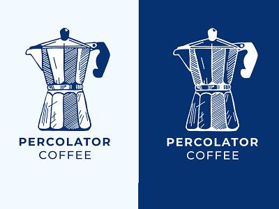 Percolator Coffee design illustration branding