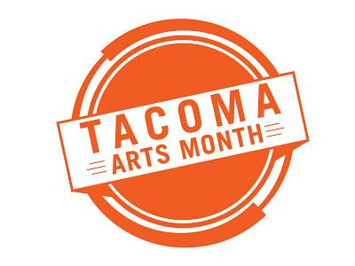 Tacoma Arts Month Logo typography branding logo
