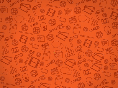 Tacoma Arts Month Pattern illustration iconography pattern