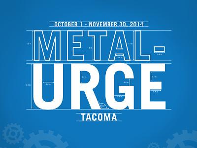 Metal Urge   gears typography brochure branding