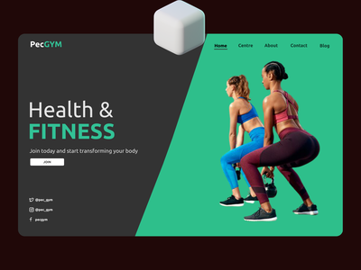 Health and Fitness ux landing page ui  ux ui uidesign