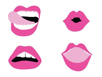 Loverboy Lips branding tongue lipstick pink logo lips brand