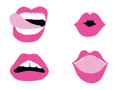 Loverboy Lips branding tongue lipstick pink logo lips brand