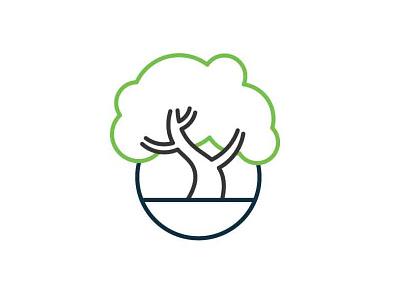 Bonsai Logo brand branding line art line logo logo design tree bonsai logo
