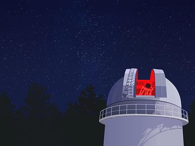 Websolr SVG Hero Image svg design web web design hero image astronomy telescope stars starry night observatory svg