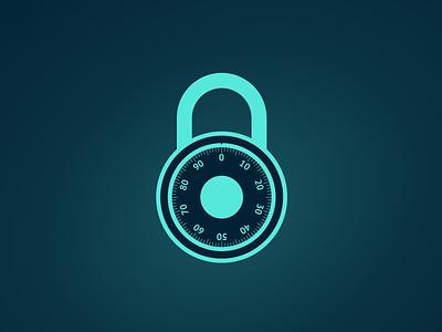 Combination Lock illustration web design web svg design svg log