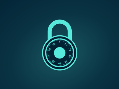 Combination Lock illustration web design web svg design svg log