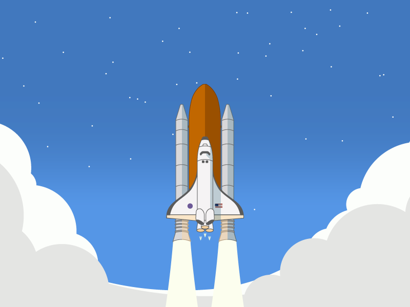 Rocket Launch illustration svg launch shuttle rocket