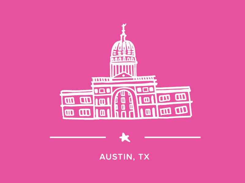 Austin Capitol texas line drawing tx austin