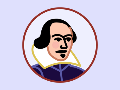 Shakespeare portrait icons the bard shakespeare