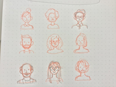 Team Lineart lineart heads team people line art icons