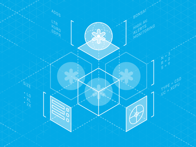 Isometric Elasticsearch Cluster line art svg illustration isometric design isometric illustration isometric cluster elasticsearch bonsai