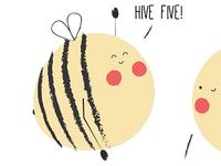 iMessage Stickers - Bee Puns Galore!
