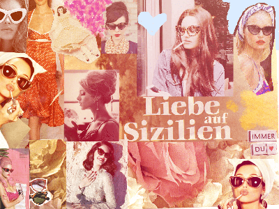 Liebe auf Sizilien sunglasses sun vintage aesthetic amour amore amor love digital handmade collage liebe