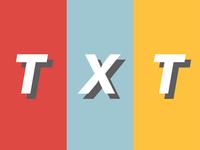 Logo design challenge #28 - TXT