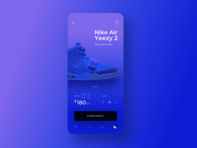 Nike Air Yeezy 2 - Blue December rebound shoes ecommerce app design ux  ui ui ux brands yeezy shopping cart checkout shopping store nike sneakers