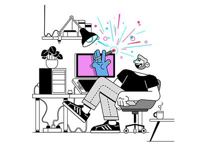 Me Home Studio magic cintiq wacom home studio characterperez design art character illustrator flat design illustration