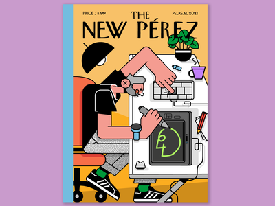 The New Pérez cover characterperez design art character illustrator flat design illustration