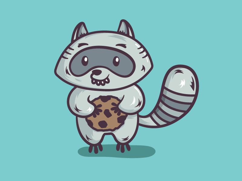 Mapache galletón galleta cookie raccoon mapache