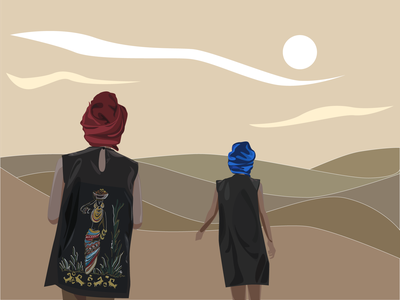Sahara desert vector illustration design