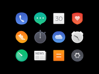app icons design for a smart watch os