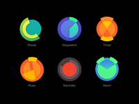 app icons concept for a smart watch os