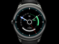 HUD style watch face