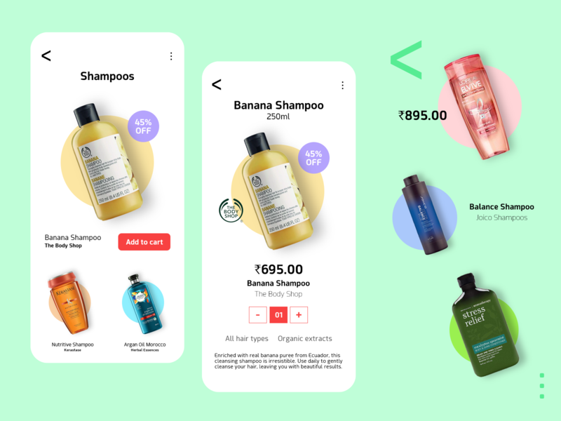 Smytten - Beauty Products Mobile UI ui webdesign typography topdesigner productdesign mobile ui mobile app mobile minimal popart fashion ecommerce design 2020 creative cosmetics concept clean branding beauty app adobe xd