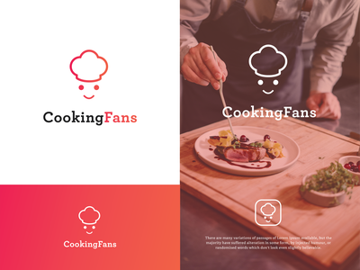 cooking fans brand illustrator vector app food and drink food app icon logo graphic design design