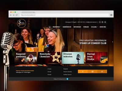 Comedy Club Website Design standup stand up website web zagreb croatia comic comedy club comedian club comedy