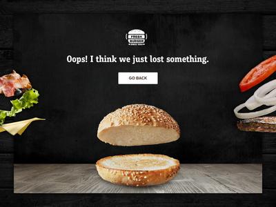 404 Page - Weekly UI Challenge S02/W02 ui challenge burger fast food 404 error 404