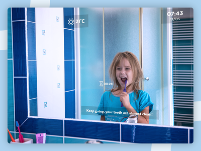 Smart Mirror - UI Weekly Challenges S02W06 ai design challenge smart home smart mirror smart mirror