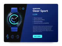 Sports Gear Shopping UI - Blue