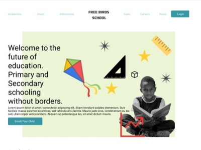 Free Birds education school website design uiux ui design ux ui