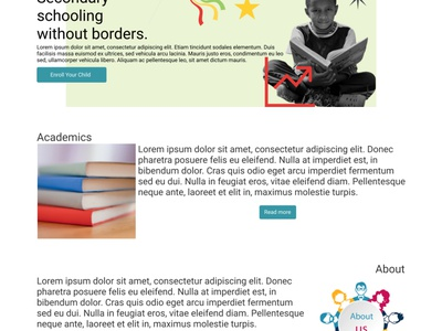 Freebirds education school website uiux ui design ux ui