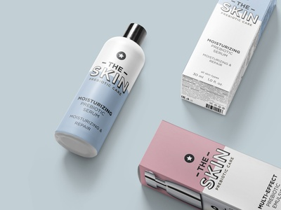 The Skin | Package design brand identity vector minimalist identity branding package design beauty brand minimal package minimal packaging minimal design minimalistic design minimal packaging packagedesign package